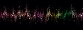 声のカラフルなサウンドプリント