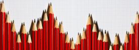 赤鉛筆の棒グラフ